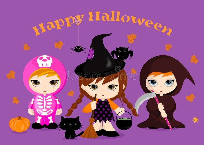 Halloweenowi Kostiumy ilustracja wektor