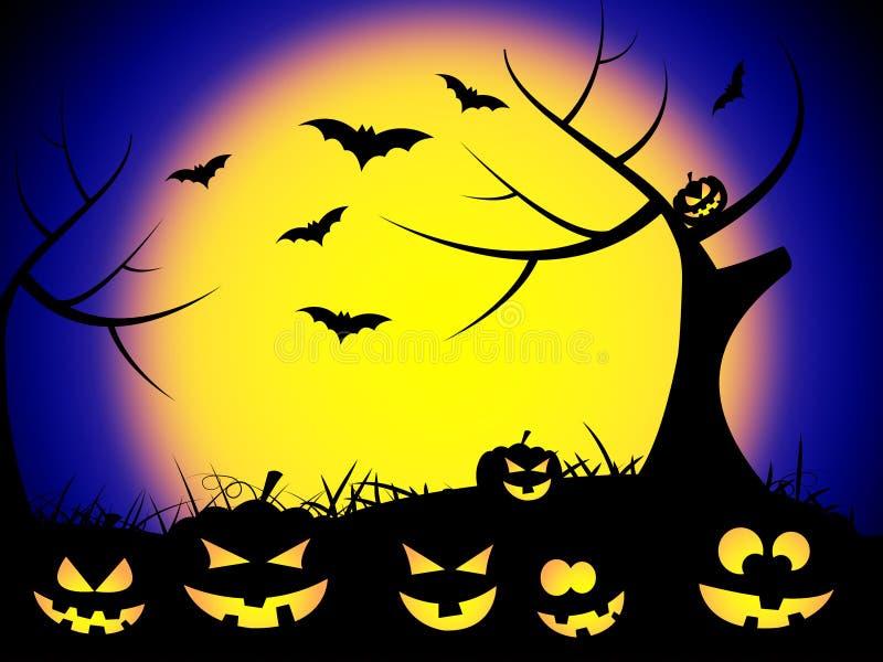 Halloweenowi nietoperze Reprezentują Trikowego, fundę Lub jesień ilustracja wektor