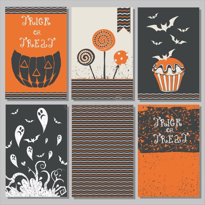 Halloweenowi plakaty ustawiający ilustracji