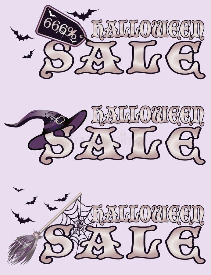 Halloweenowi sprzedaż sztandary royalty ilustracja