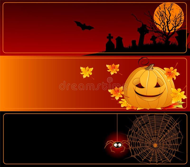Halloweenowi Sztandary ilustracji