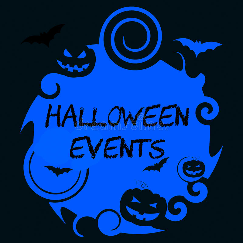 Halloweenowi wydarzenia Reprezentują Trikowego, fundę Lub sprawę ilustracja wektor