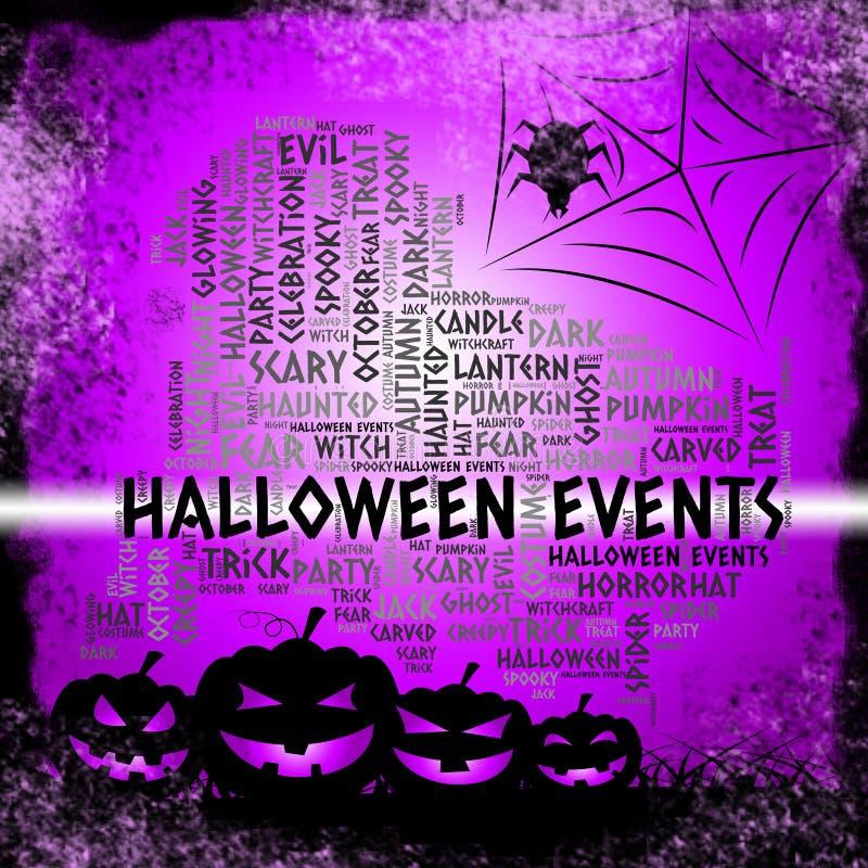 Halloweenowi wydarzenia Reprezentują Trikowego, fundę Lub sprawę royalty ilustracja