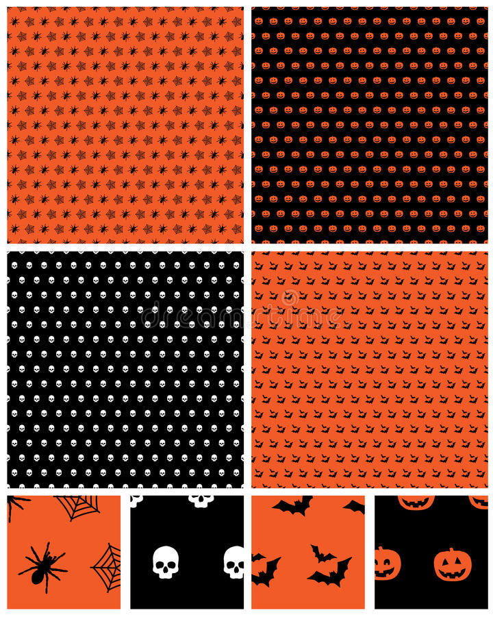 Halloweenowi wzory ilustracja wektor
