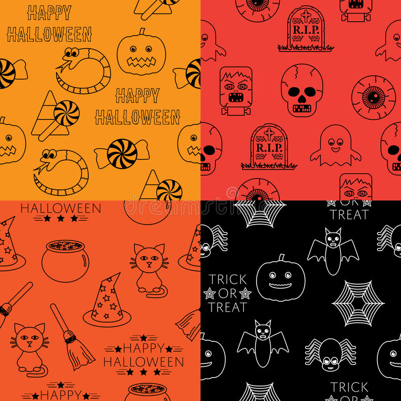 Halloweenowi wzory royalty ilustracja