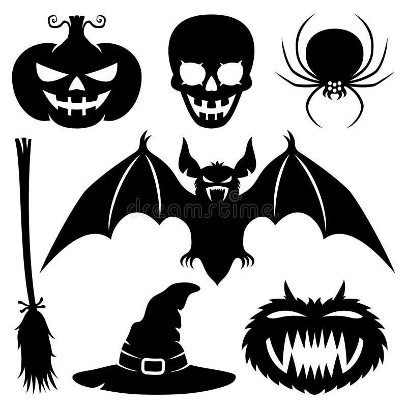 Halloweenowi znaki ilustracji