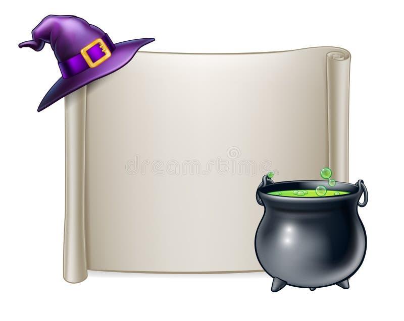Halloweenowy ślimacznica znaka tło ilustracji
