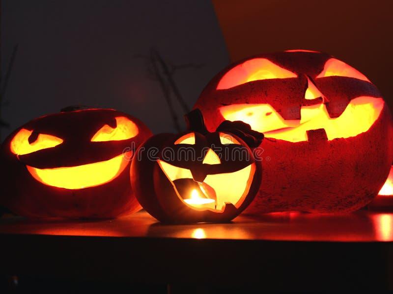 Halloweenowy bani Jack o lampion obrazy royalty free