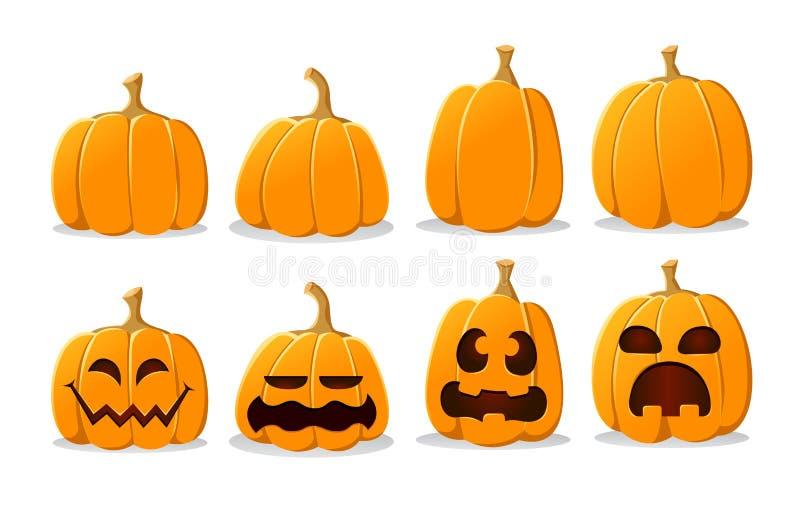Halloweenowy bania set ilustracja wektor