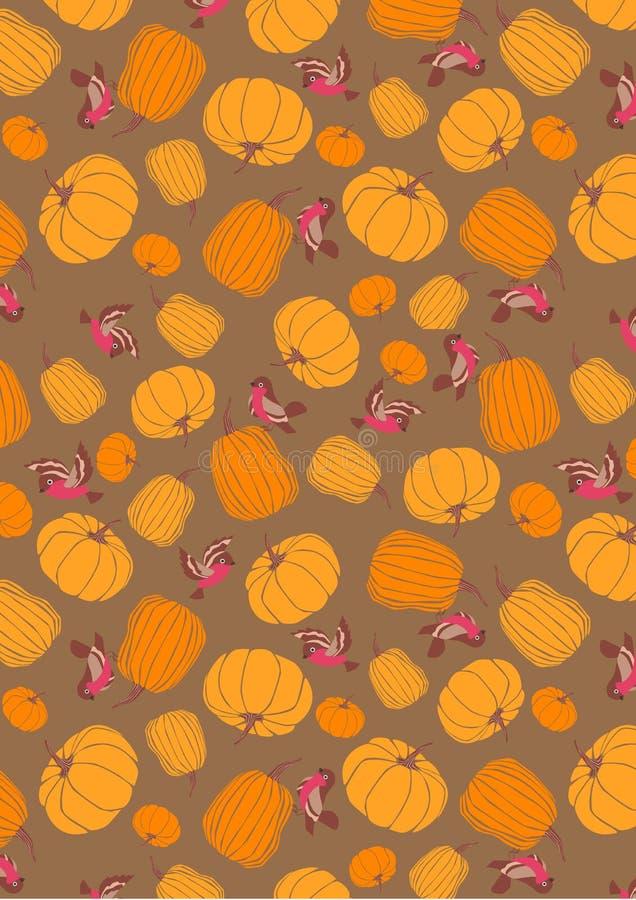 Halloweenowy bania wzoru tło zdjęcie stock