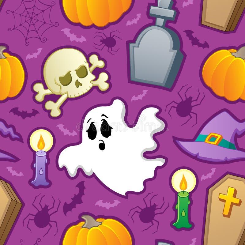 Halloweenowy bezszwowy tło 3 ilustracja wektor