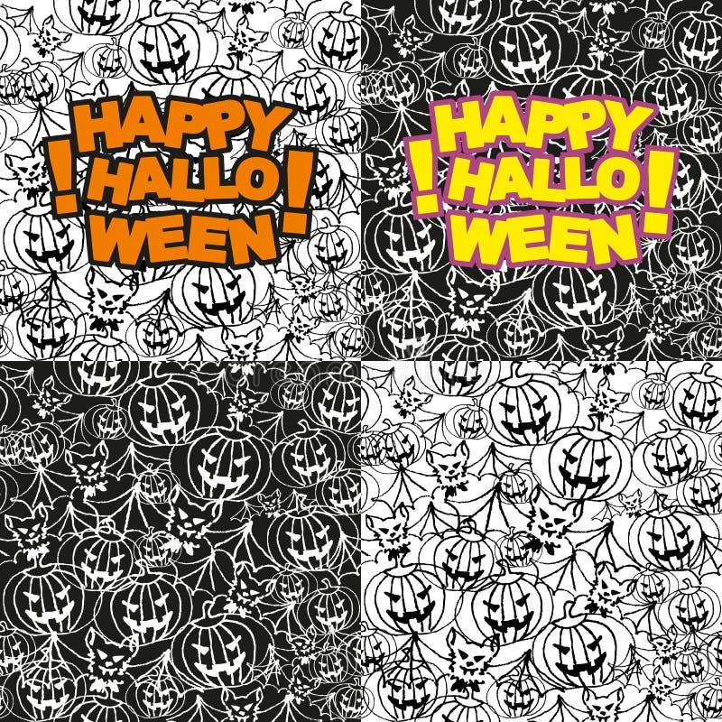 Download Halloweenowy Bezszwowy Wzór Ilustracja Wektor - Ilustracja złożonej z horror, wakacje: 28971722