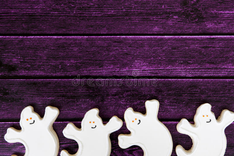 Halloweenowy ciastka tło zdjęcie stock