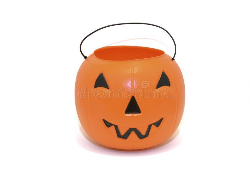 Halloweenowy Dyniowy cukierku wiadro dla częstowania fotografia stock