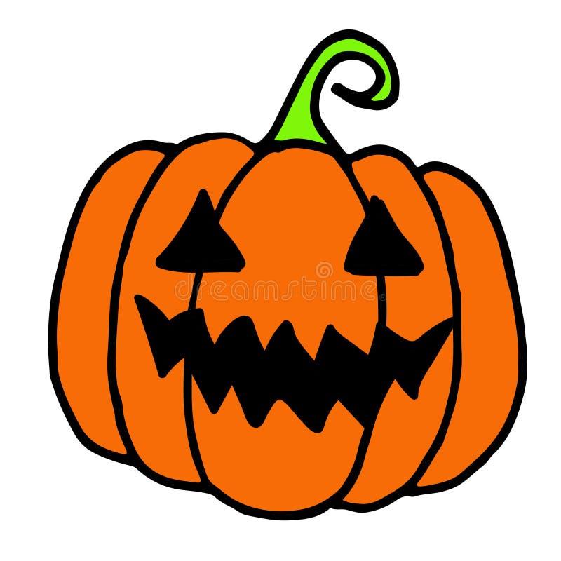 Halloweenowy Dyniowy Doodle, ręka rysująca ilustracja Halloweenowa bania ilustracja wektor