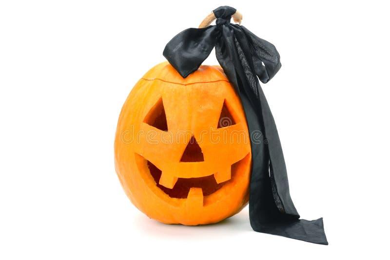 Halloweenowy dyniowy Jack ` - lampion odizolowywający na białym tle zdjęcia royalty free