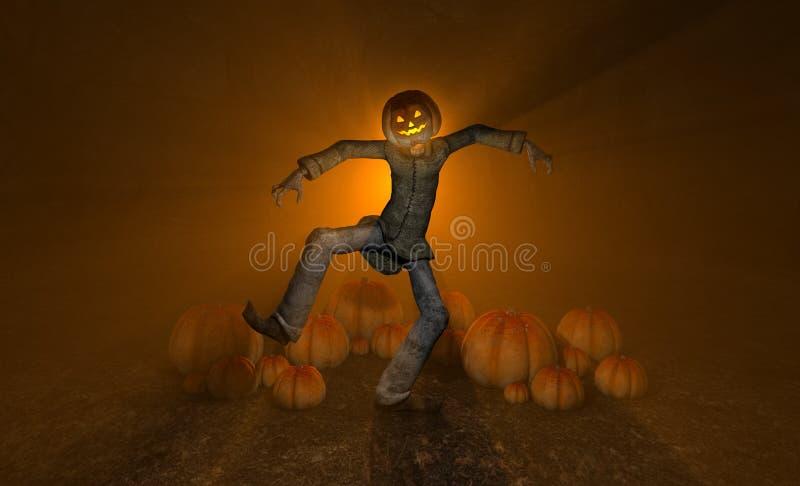 Halloweenowy Dyniowy Mężczyzna Obrazy Stock
