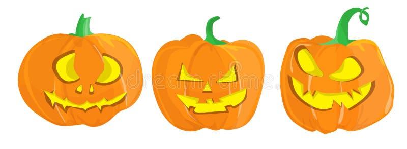 Halloweenowy dyniowy set royalty ilustracja