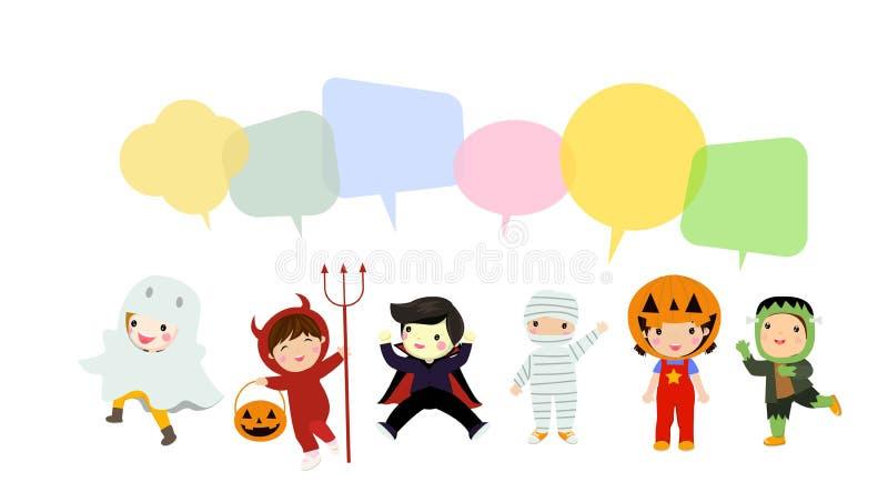 Halloweenowy dzieciaka kostiumu przyj?cie zdjęcie stock