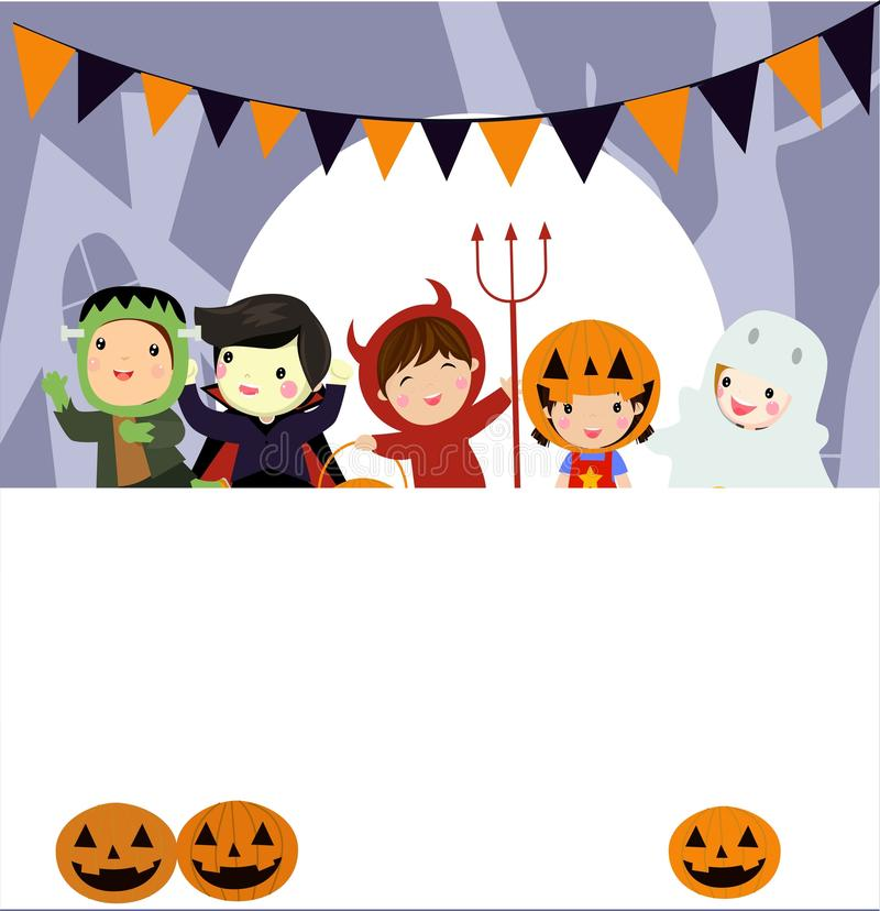 Halloweenowy dzieciaka kostiumu przyj?cie obraz stock
