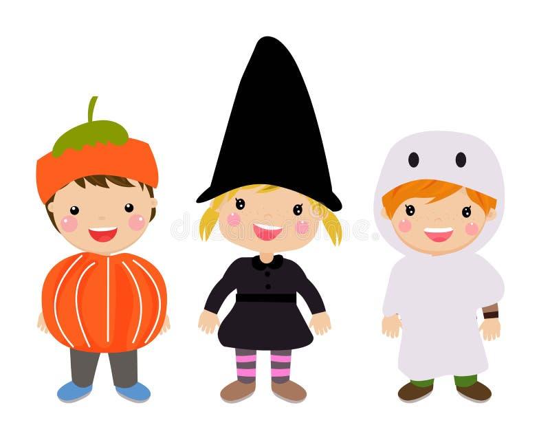 Halloweenowy dzieciaka kostiumu przyj?cie royalty ilustracja