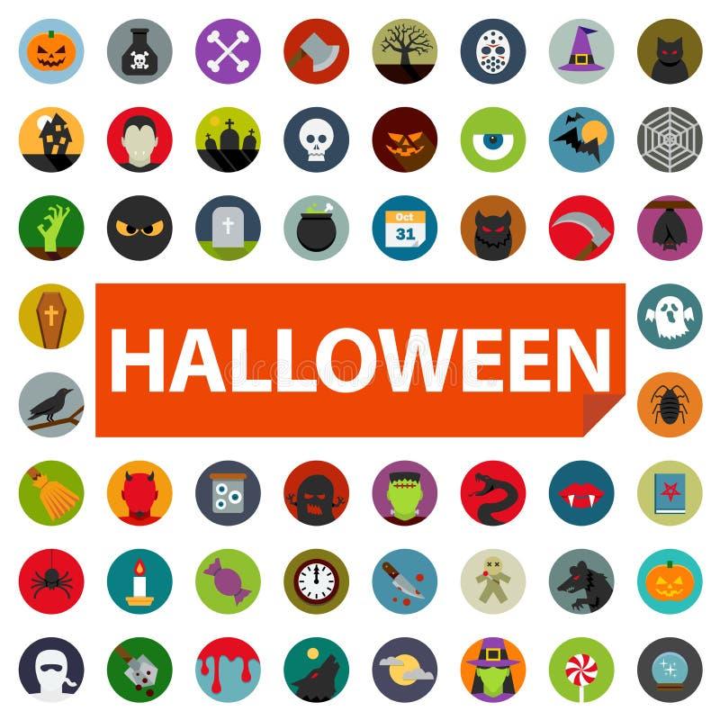 Halloweenowy ikona set ilustracja wektor