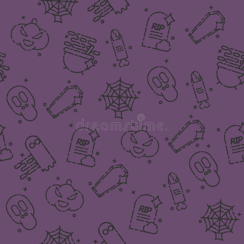 Halloweenowy ikona wzór ilustracji