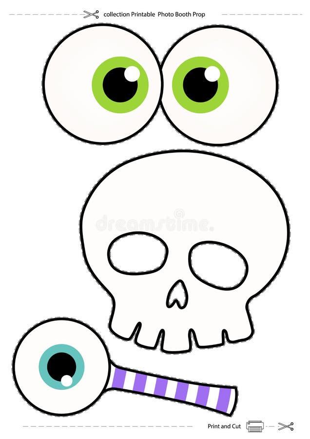 Halloweenowy inkasowy Printable fotografii budka wsparcie ilustracji