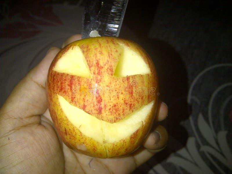 Halloweenowy jabłko obrazy stock