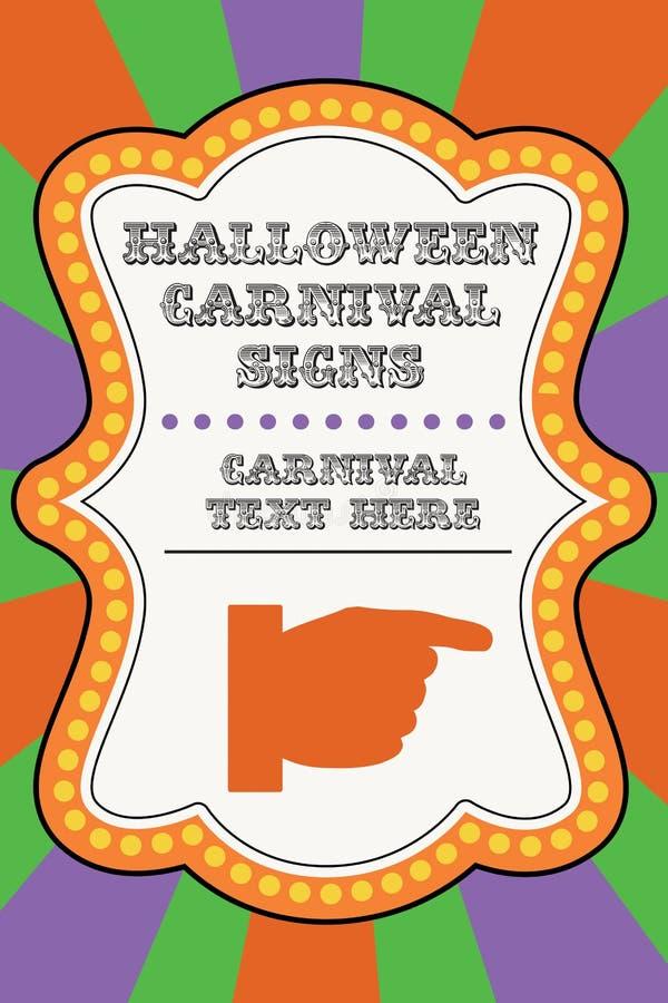 Halloweenowy karnawałowy szablon zdjęcie royalty free