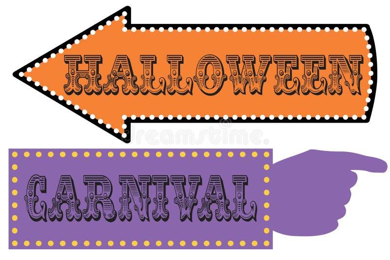 Halloweenowy karnawału znaka szablon obraz stock
