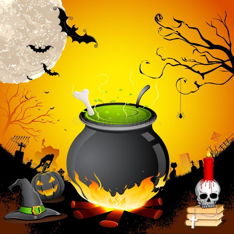 Halloweenowy Kocioł royalty ilustracja