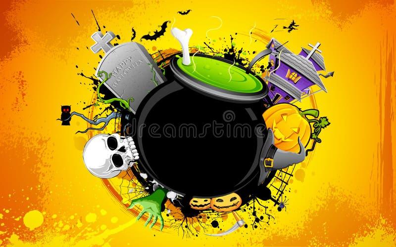 Halloweenowy kocioł ilustracja wektor