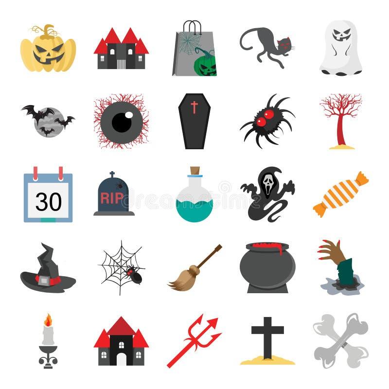 Halloweenowy kolor Odizolowywał Wektorową ikonę która może być łatwo redaguje kolor Odizolowywającą Wektorową ikonę lub modifiedH ilustracja wektor
