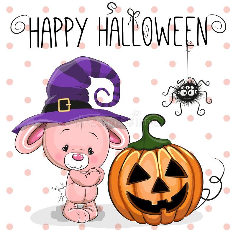 Halloweenowy królik ilustracja wektor