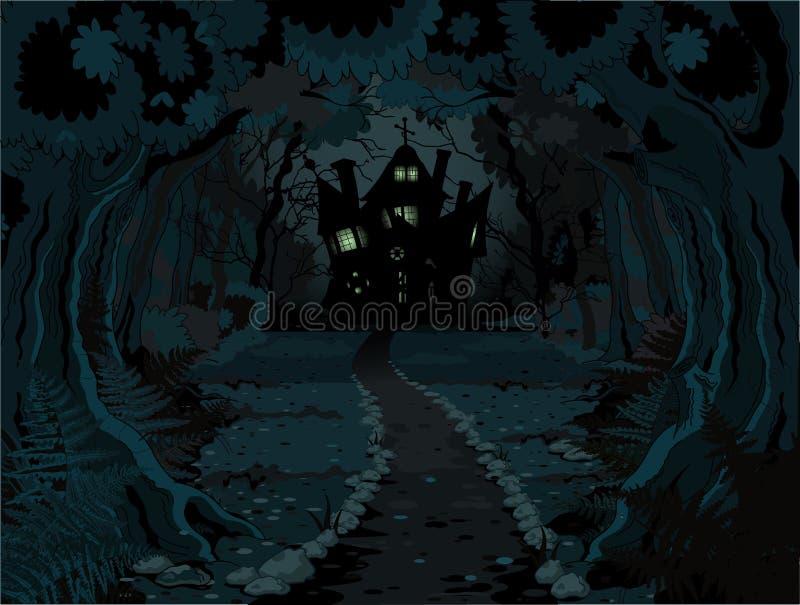 Halloweenowy las ilustracji