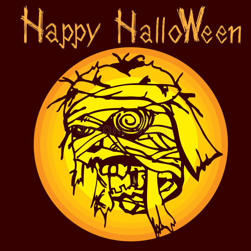 Halloweenowy mamusia żywy trup C ilustracji