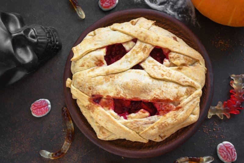 Halloweenowy mamusia kulebiak obrazy stock
