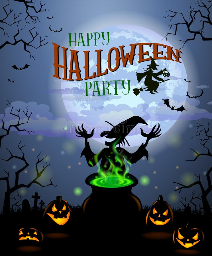 Halloweenowy menu szablon ilustracji