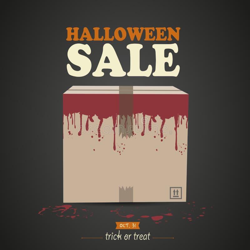 Halloweenowy niespodzianki pudełko ilustracja wektor