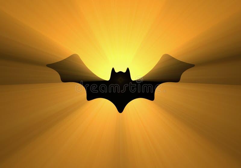 Halloweenowy nietoperza projekta światła halo ilustracja wektor