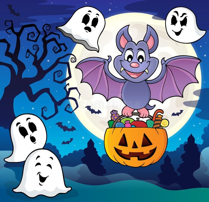 Halloweenowy nietoperza tematu wizerunek 8 royalty ilustracja