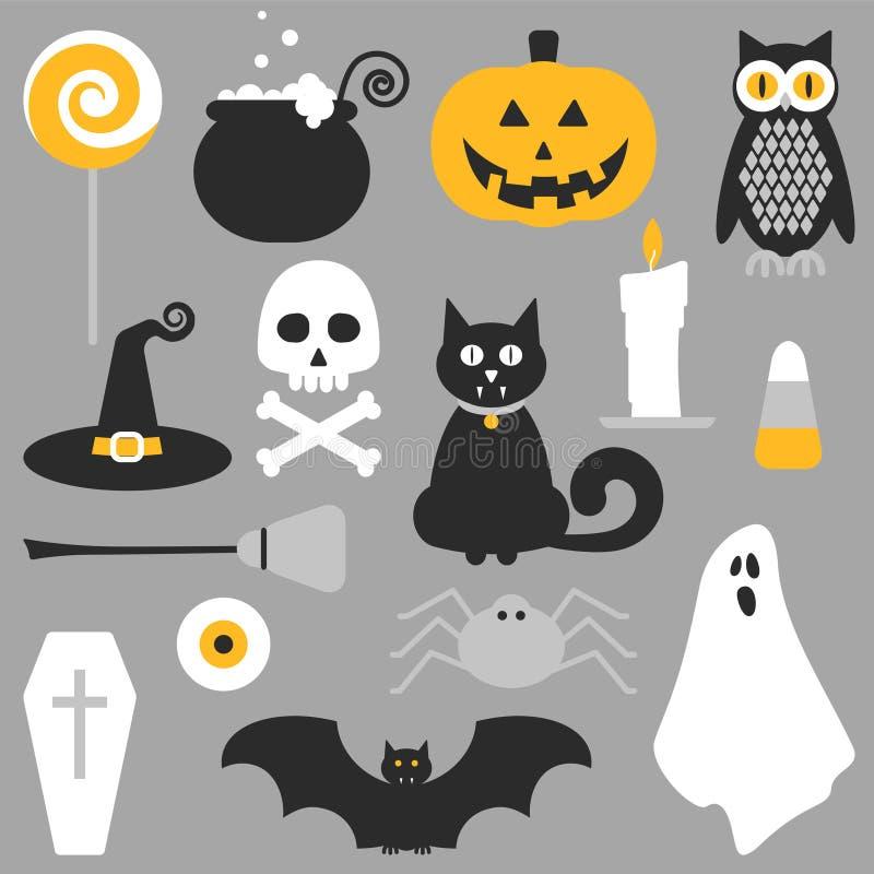 Halloweenowy płaski ikona projekt ilustracji