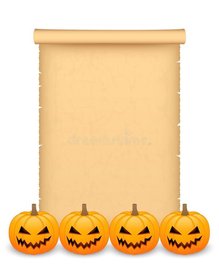 Halloweenowy pergamin royalty ilustracja