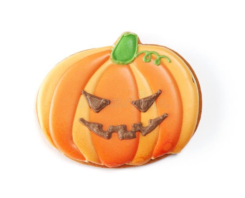 Halloweenowy piernikowy ciastko zdjęcie stock
