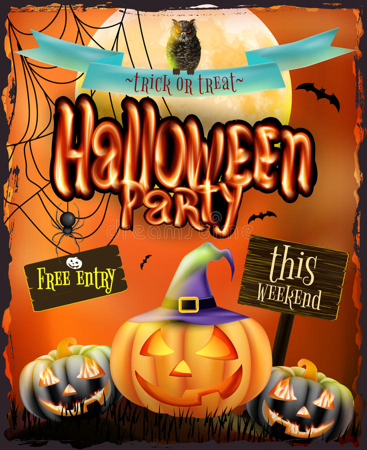 Halloweenowy plakat dla wakacje 10 eps ilustracja wektor