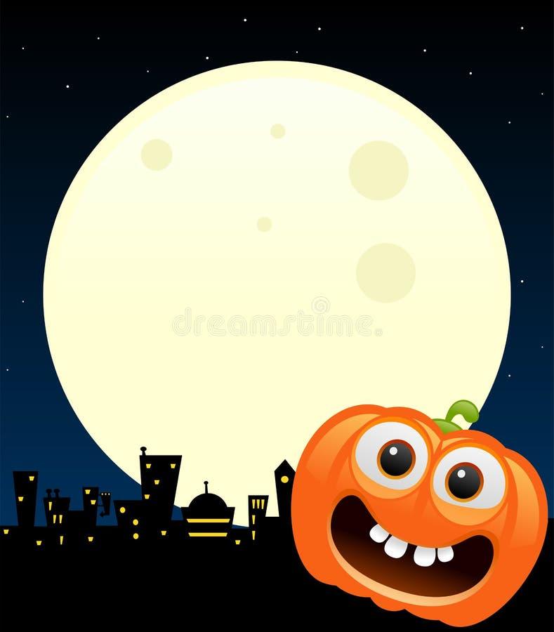 Halloweenowy pojęcie projekt z banią ilustracji