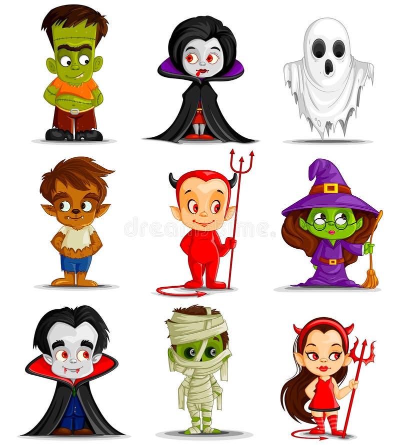 Halloweenowy potwór ilustracja wektor