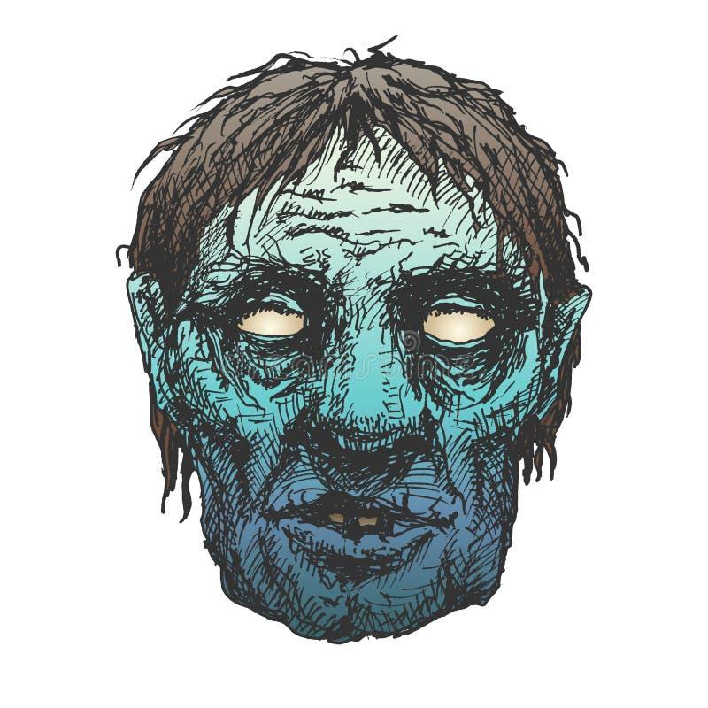 Halloweenowy potwór maski rysunek ilustracja wektor