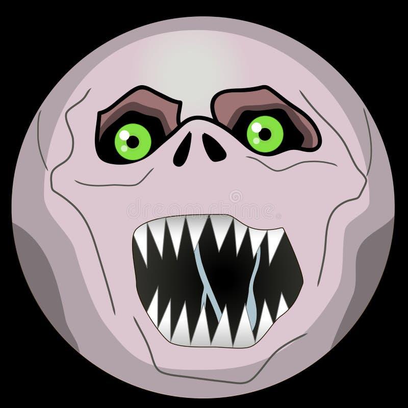 Halloweenowy potwór Stawia czoło emoji smiley gul royalty ilustracja